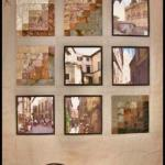Martha Steele  - Here is a picture of my finished poster quilt of Orvieto.  I had a lot of fun making it.  I hope you can see the skyline of Orvieto I stitiched at the top and some valley images at the bottom.