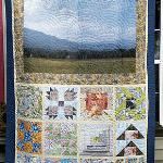 Lynn & Marian Sykes We had great fun in the classes and learned so much.  I have attached a picture of the finished quilt.  What we did was take the pictures we took in the park and focusing on one particular item, enhanced that and made the fabric that made up each block.